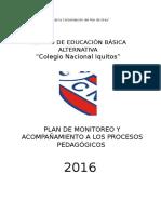 Plan de Monitoreo y Acompañamiento - 2016 - C.E.B.a CNI