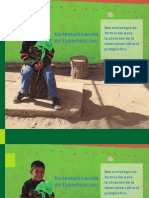 Sistematizacion de Experiencias Una Estrategia de Formacion Para La Atencion de La Diversidad Cultural y Linguistica