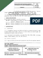 NBR 05627 - 1980 - NB 503 - Exigencias Particulares Das Obras Concreto Armado e Protendido Em Rel