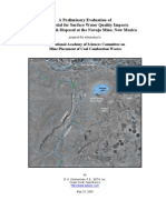 Potential for Surface Water Quality Impacts from Fly Ash Disposal at the Navajo Mine, New Mexico