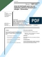 NBR 05431 PB 23 - Caixas De Derivacao Para Uso Em Instalacoes Eletricas Domesticas E Analogas - D.pdf