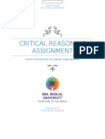Critical Reasoning Assignment