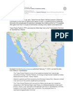 Waha, Coyanosa via Trans Pecos & El Encino Pipelines to Topolobampo