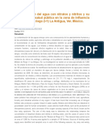 Contaminación Del Agua Con Nitratos y Nitritos y Su Impacto en La Salud Pública en La Zona de Influencia Del Módulo de Riego