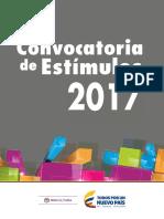 Convocatoria de Estímulos 2017