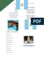 Poema a La Marimba, Bandera, Monja Blanca
