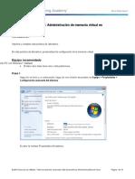 5.3.2.16 Lab - Administración de Memoria Virtual en Windows 7