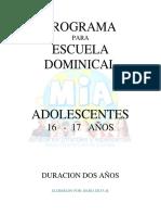 16 a 17 Años Adolescentes Master