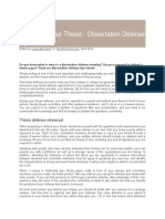 Defending Your Thesis