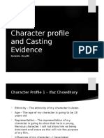 Character Profile and Casting Evidence