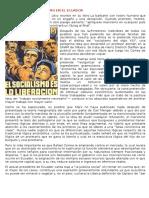 Influencia Del Socialismo en El Ecuador