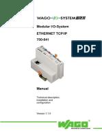 Wago Ethernet Tcpip 750-841