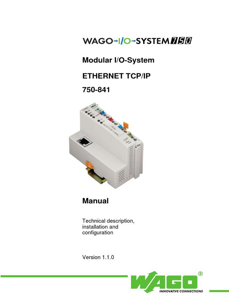Wago 750 manual.