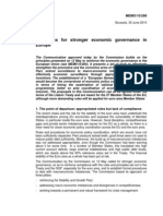 A toolbox for stronger economic governance in Europe