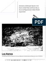 Ultramafic Deposits as Sources of Magnesium for Carbon Dioxide Sequestation