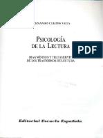 Cuetos Vega. Psicología de La Lectura. Diagnóstico y Tratamiento de Los Trastornos de Lectura