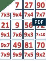 Domino de Tablas de Multiplicar