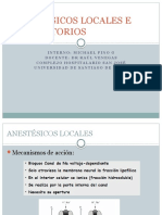 Anestésicos Locales e Inhalatorios