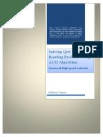 Solving QoS Multicast Routing Problem Using ACO Algorithm