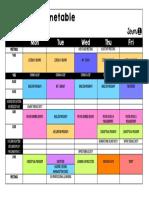 blizzard 10 timetable term1