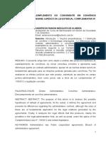 Efeitos Do Inadimplemento Do Convenente Em Convênios Firmados Sob o Regime Jurídico Da Lei Estadual Complementar Nº. 119-2012