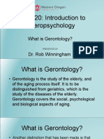 What is Gerontology