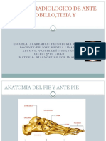 Estudio Radiologico de Ante Pie, Pie,
