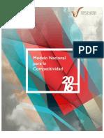 2016 Modelo Nacional Para La Competitividad 2016 2