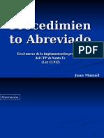 3. Procedimiento Abreviado Ley 12912 y 12734 (Sta. Fe)