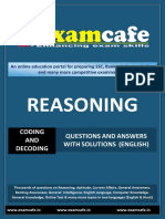 Coding Decoding - English Practice Set 1