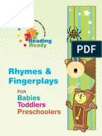 Reading Ready-Rhymes and Fingerplays for Babies Toddlers and Preschoolers