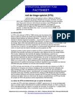 Le DTS a Été Créé Par Le FMI