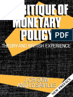 Dow, J. C. R.; Saville, I. D.] a Critique of Monetary Policy