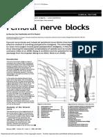 Femoral Nerve Blocks