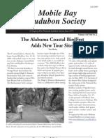 Fall 2009 Mobile Bay Audubon Society Newsletters