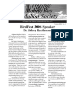January-February-March 2006 Mobile Bay Audubon Society Newsletters
