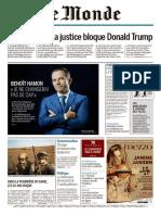 Le Monde Du Dimanche 5 Et Lundii 6 Février 2017