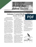 July-August-September 2006  Mobile Bay Audubon Society Newsletters