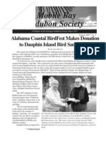April-May-June 2006 Mobile Bay Audubon Society Newsletters