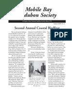 November-December 2005 Mobile Bay Audubon Society Newsletters