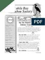 September-October 2004 Mobile Bay Audubon Society Newsletters