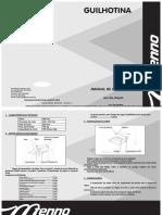 Manual Guilhotina Copiatic 300f