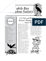 November-December 2003 Mobile Bay Audubon Society Newsletters