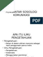 PENGANTAR SOSIOLOGI KOMUNIKASI
