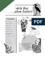 January-February 2003 Mobile Bay Audubon Society Newsletters