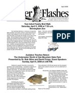 April 2008 Flicker Flashes Birmingham Audubon Society Newsletter