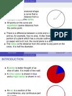 study of circles