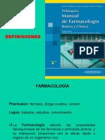 DEFINICIONES TÉRMINOS DE FARMACOLOGIA