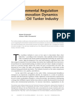 Environmental Regulation and Innovation Dynamics in the Oil Tanker Industry