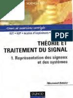 Théorie Et Traitement Du Signal_ Tome 1 _ Représentation Des Signaux Et Des Systèmes - Cours Et Exercices Corrigés-Dunod (2002)